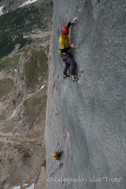 Invisibilis on Marmolada, the long history of a new route by Larcher and Vergoni