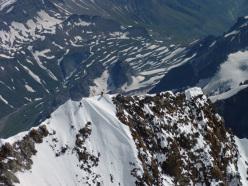 Sulla via Seigneur del Pilastro Sud del Freney - Monte Bianco
