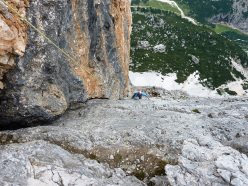 Federica Maslowsky on the final pitch of Diedro Dall'Oglio