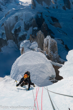 07/2013: Stephan Siegrist, Dani Arnold, Thomas Huber and Matias Villavicencio during the winter ascent of Cerro Torre