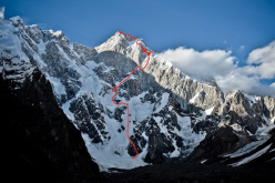 Hansjörg Auer, Simon Anthamatten, Matthias Auer: first ascent of Kungyang Chhish East, Karakorum, Pakistan in July 2013