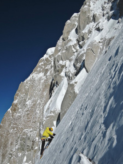 Matthias Auer sets off on summit day