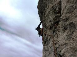 La verticalità sulla via Gasomania al Sigaro