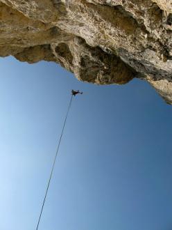 Martin Riegler and Florian Riegler sulla loro via Goldfinger (7c, 200m), Hammerwand, Sciliar, Dolomiti.