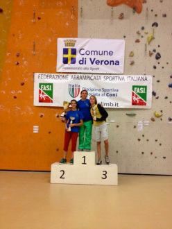 Coppa Italia Speed e Lead 2013: podio femminile Speed