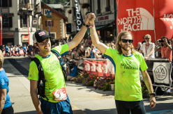 Gli atleti USA di The North Face, Timothy Olson e Mike Foote all'arrivo (rispettivamente quarto e quinto)
