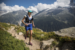 L'atleta USA del team The North Face, classificata prima tra le donne con il nuovo record, Rory Bosio.