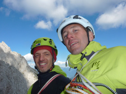 Daniele Natali and Stefano Codazzi, finally on the summit