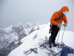 Pure alpinism on the Segantini ridge