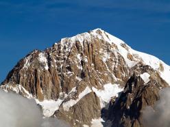 I versanti di Broullard e Freney del Monte Bianco.