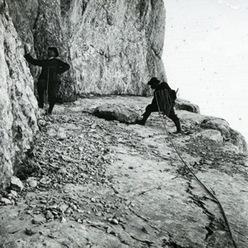 Re Alberto I del Belgio con le guide alpine di Cortina d'Ampezzo