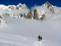 Si apre il panorama sul Gran Capucin e sul Monte Bianco
