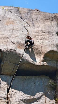 Adriano Trombetta climbing the splendid Sitting Bull.