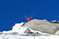 Paulo Roxo on the summit of Kapura South