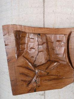 La scultura fedelissima con la Via A Fil di Pagina su Le Pagine di Pietra, Forzo, Gran Paradiso