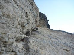 Variante del Li-Cuore, Monte Agner parete Nord-Est (VII+, A3, VII- obbligatorio, Tito Arosio, Luca Vallata 2013)