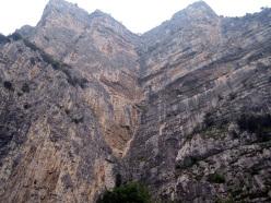 Sulla via del Diedro Maestri alla parete del Limarò, Piccolo Dain, Valle del Sarca
