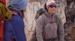 L'alpinista canadese Sarah Hueniken.