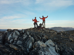 Tom Codrington and Ian Faulkner on top of Ivnarssuaq Great Wall