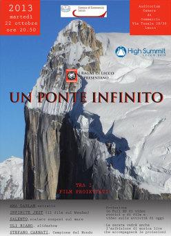Un ponte infinito, la serata dei Ragni di Lecco per High Summit
