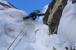 Mick Fowler making the first ascent of Kishtwar Kailash (6,451m), Indian Himalaya in October 2013 together with Paul Ramsden.