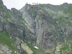 Superdad (120m, 5c) di Fabio Ventre & Mauro Ventre, Punta Malanotte, Cozie Alps