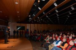 Agostino da Polenza presidente Comitato Ev-K2-CNR alla serata Un ponte infinito dei Ragni di Lecco per l'apertura di High Summit