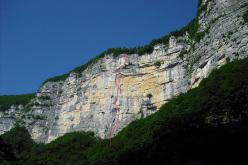 Il tracciato di Via Sopra il teatro - Val Gadena