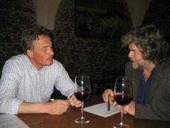 Reinhold Messner e Ivo Rabanser tra vino e storia dell'alpinismo