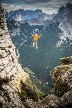 Alessandro d'Emilia al Monte Piana Highline Meeting 2013