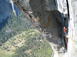 Matthias Auer belaying on the