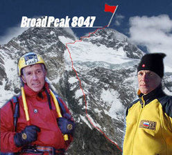 Valery Babanov e Victor Afanasiev e la loro nuova via sul Broad Peak