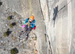 Vanessa François climbing the Zodiac, El Capitan, Yosemite