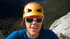 22-year-old American climber Cheyne Lempe alone on the Salathe Wall, El Capitan on 06/11/2013