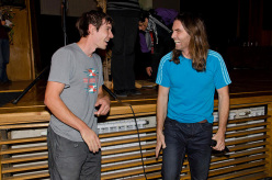 Alex Honnold and Thomas Huber at the Banskofilmfest 2012