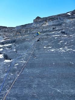 Greg Boswell climbing Man Yoga, Stanley Headwall