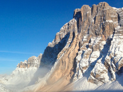The collapse of Su Alto, Civetta, Dolomites that took place on 16 November 2013.