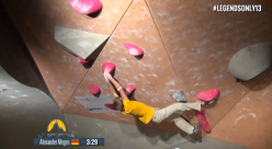 Alexander Megos competing at the La Sportiva Legends Only 2013