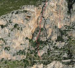 I Sultani dello Swing (90m, 6c), I Guerrieri della Luce (5c+, 105m), Viaggio nel tempo (VII-, 135m)