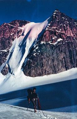 Salita di Piero Ambrosetti al camp alto, Monte Thor