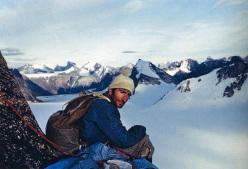 Aiguille du Couchant: Piero Ambrosetti riposa sulla vetta