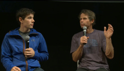 American climbers Alex Honnold and Pete Croft