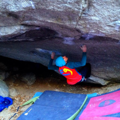 Gabriele Moroni on Insanity of Grandeur 8C at Chironico.