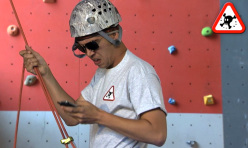 The world's worst belayer