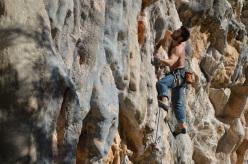 Marco Piccolo climbing Grimilde at Basura