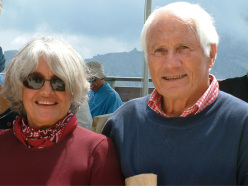 Rossana Podestà and Walter Bonatti at Monte Rite, 2004
