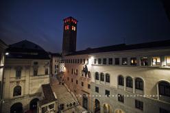 Highline a Padova con Armin Holzer e Ale D'Emilia durante la prima edizione di Montagna di Babele