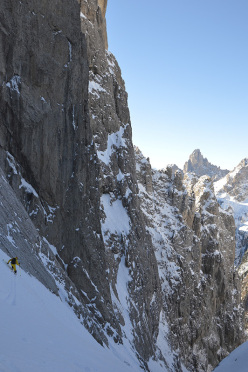 Canale Sant Anna, Pale di San Martino: Bruno in the gully
