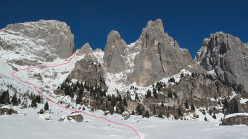 Canale Sant Anna, Pale di San Martino: the line of ascent