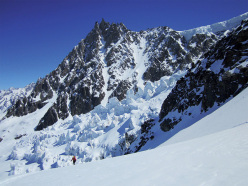 Glacier Rond: one of the classic Chamonix descents